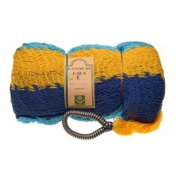 Hamaka COZUMEL (modro-tyrkysovo-žlutá), pruhy