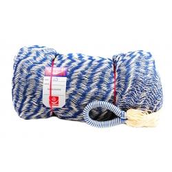 Hamaka/houpací síť WHITE & BLUE, modro-bílá,splétaná
