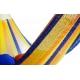 Hamaka CANCÚN (modro-žluto-oranžová), pruhy