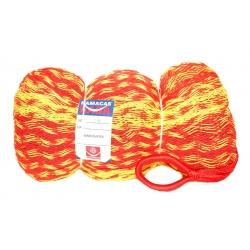 Hamaka/houpací síť TEQUILA SPLĚTANÁ, žluto-červená,splétaná