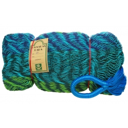 Hamaka / houpací síť OCEAN 1 (modro-zeleno-tyrkysová), kombinovaná