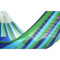 Hamaka/houpací síť TMAVOZELENÁ, jednobarevná