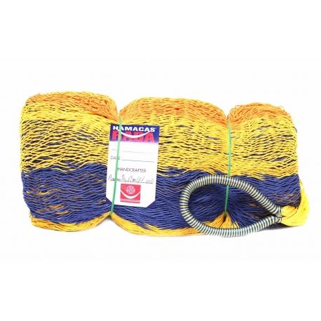 Hamaka CANCÚN 1 (modro-žluto-oranžová), pruhy