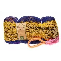 Hamaka TULUM (modro-žluto-růžová), pruhy