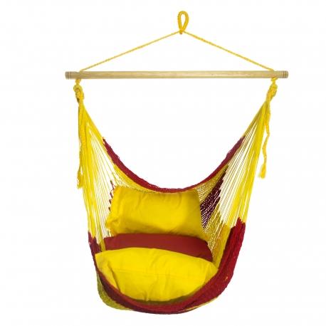 HOUPACÍ KŘESLO TEQUILA (čevená, žlutá, oranžová)