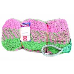 Hamaka / houpací síť MAYA, zeleno-růžová