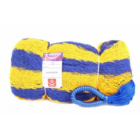 Hamaka/houpací síť SWEDEN (modro-žlutá) pruhy